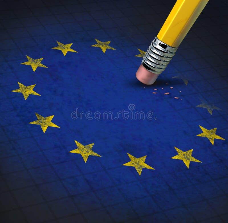 Problemi di Unione Europea illustrazione vettoriale