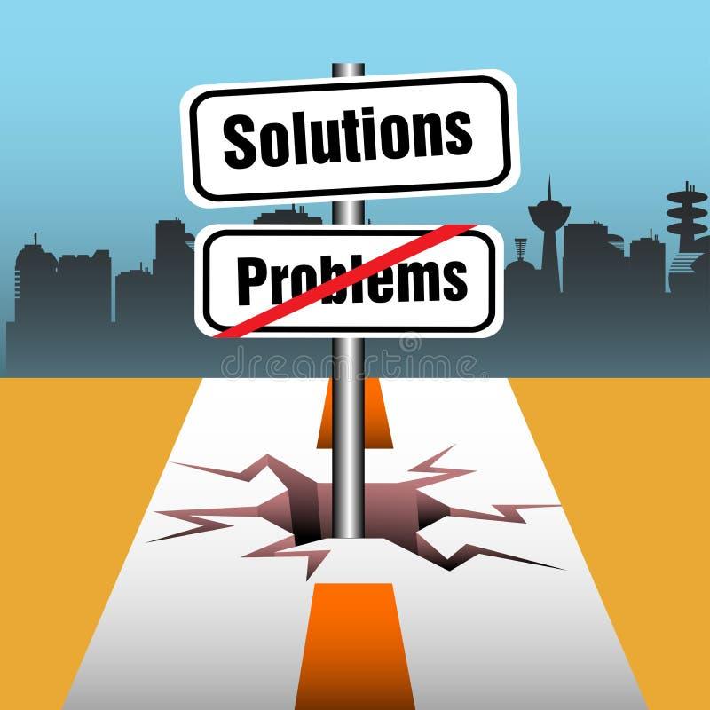 Problemi e soluzioni illustrazione vettoriale