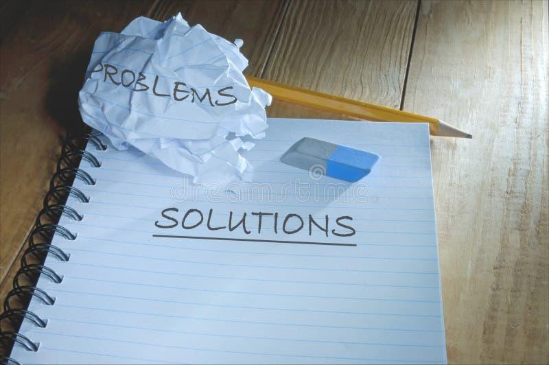 Problemi e soluzioni fotografie stock