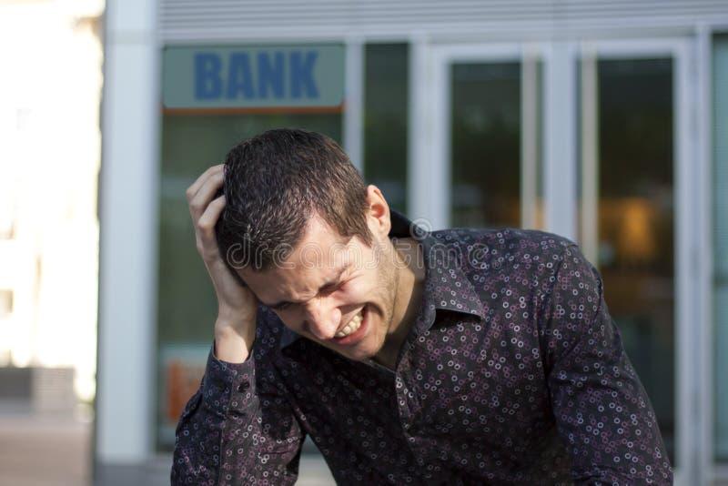 Problemi finanziari con la banca fotografie stock libere da diritti