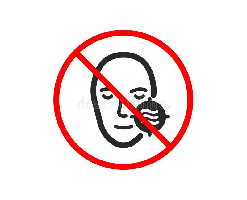 Problemowa twarzy sk?ry ikona Potrzeby opieki twarzowy znak wektor ilustracji