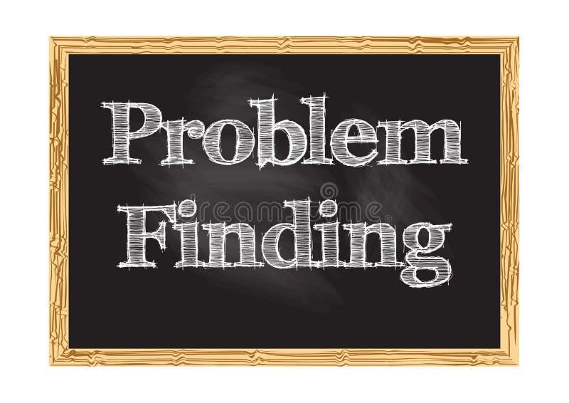 Problemowa znalezienia blackboard zawiadomienia wektoru ilustracja ilustracji