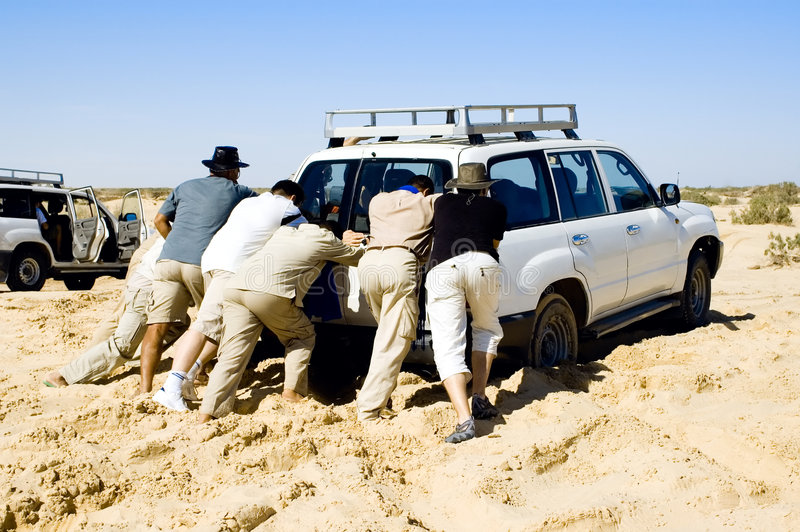 Download Problems With Car While Safari At The Desert Stock Photography - Image: 1869352