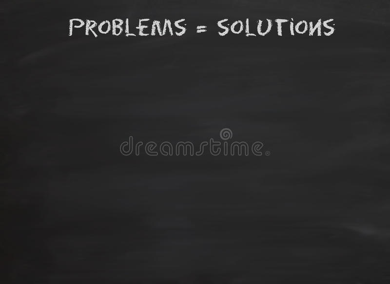 Problems Equal Solutions Stock Image