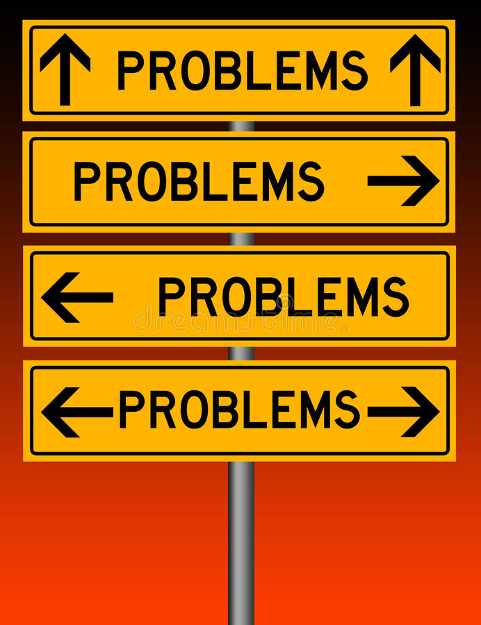 Problems everywhere. You go and no way to avoid them vector illustration