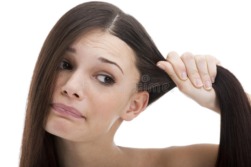 Problems with Hair royalty free stock image