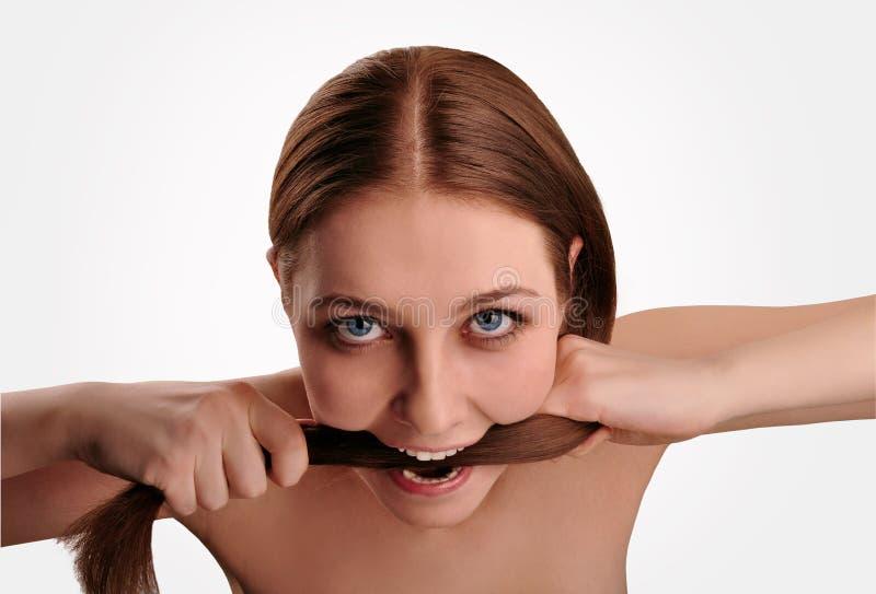 Problems with hair stock photos