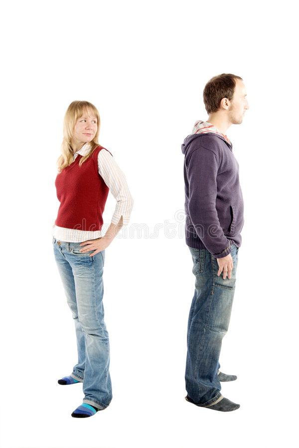 Problems with relationships royalty free stock image