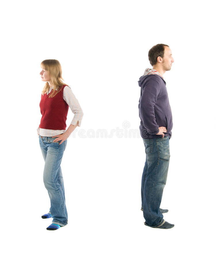 Problems in relationships stock photo