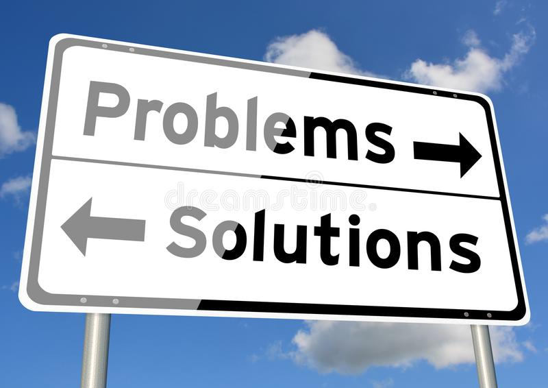 Download Problems Solutions Choice Signpost Concept Sky Stock Image - Image of conceptual, abstract: 109496589