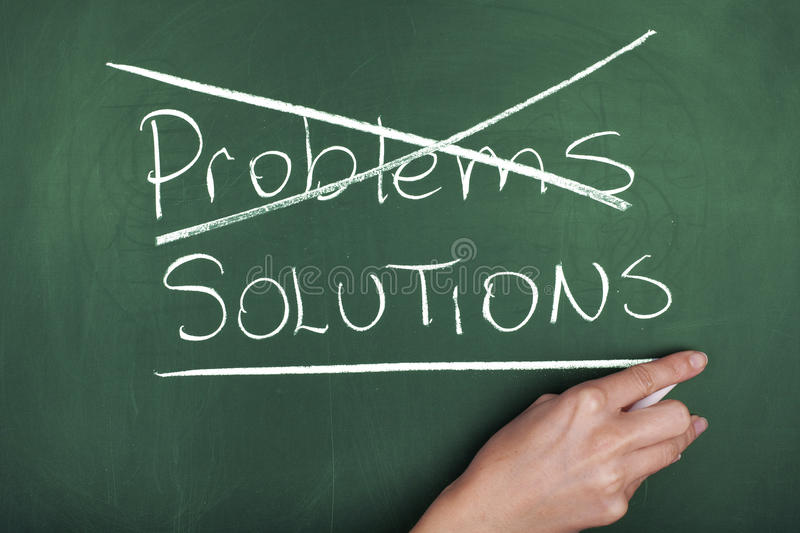 PROBLEMS SOLUTIONS stock image