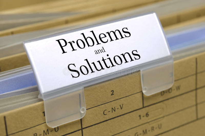Problems and solutions royalty free stock images