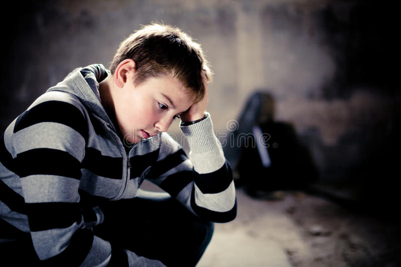 Problems of Young teenaiger royalty free stock photo