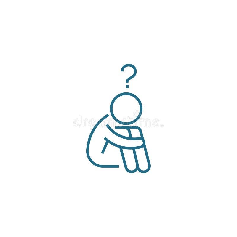 Problemy w pracy ikony liniowym pojęciu Problemy w pracy linii wektoru znaku, symbol, ilustracja ilustracja wektor