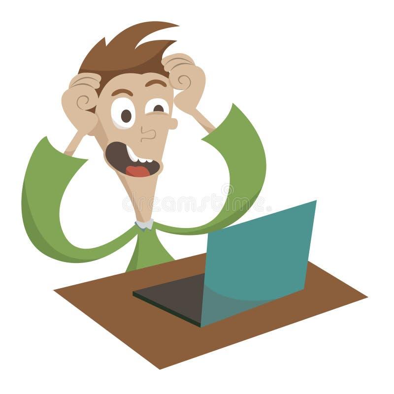 Komputerowi problemy ilustracji