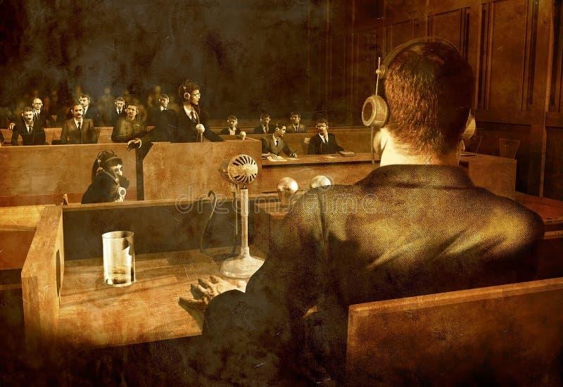 Procès de Nuremberg illustration de vecteur