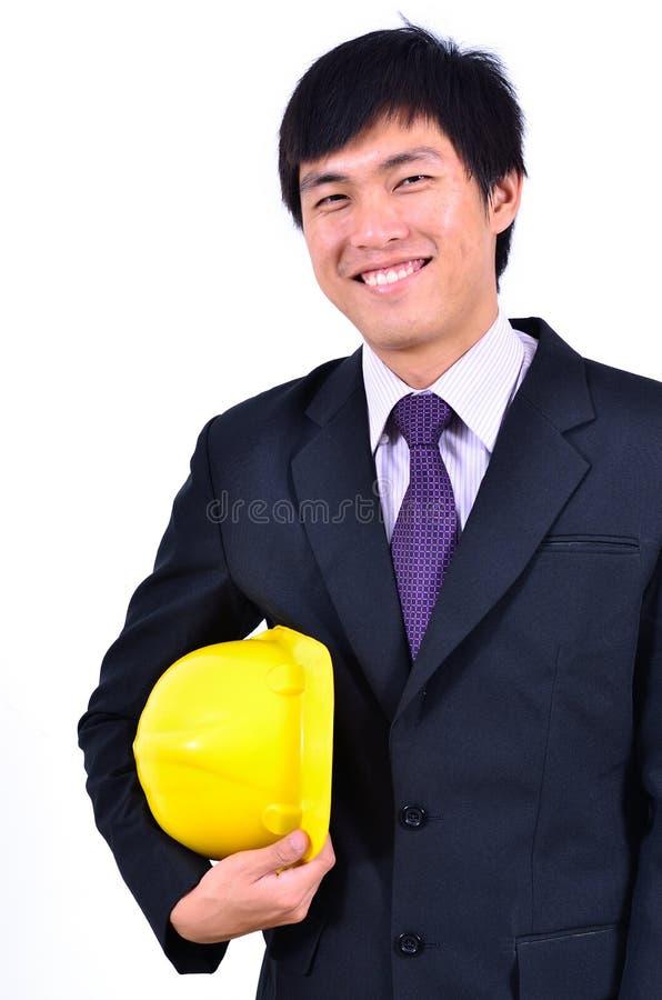 Procès de sourire d'un ingénieur bel photo libre de droits