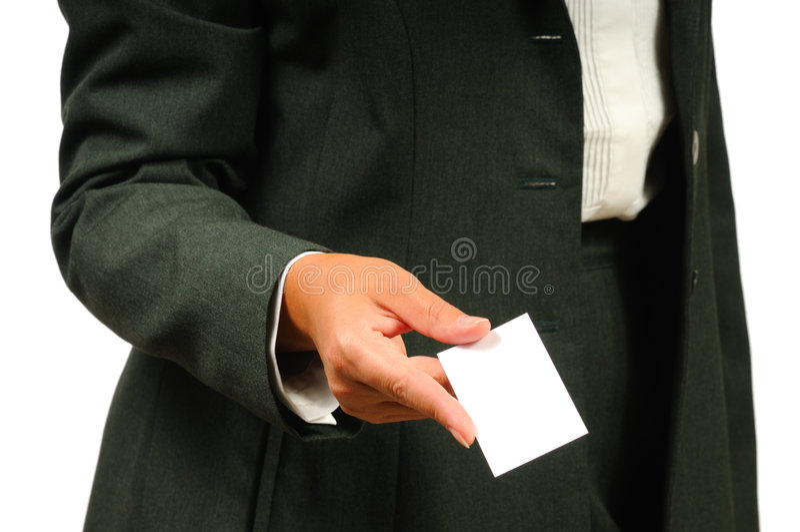 procès vide de fixation de carte de femme d'affaires d'affaires photo libre de droits