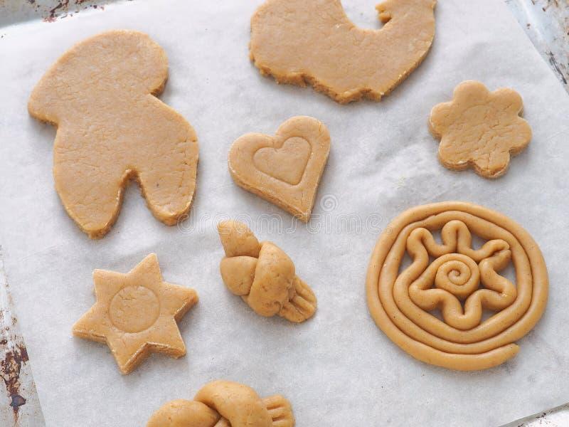 Procédé de cuisson Préparation du festin de Noël images libres de droits