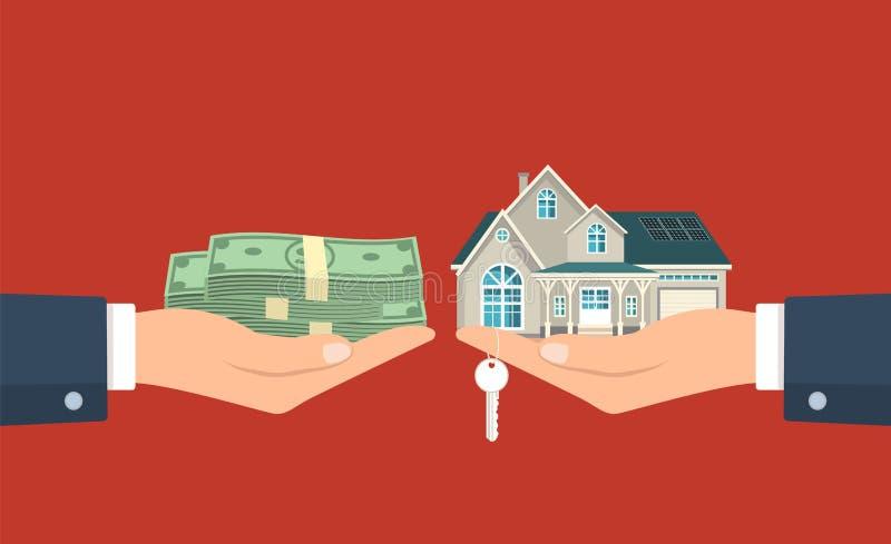 Procédure de vente de maison illustration stock