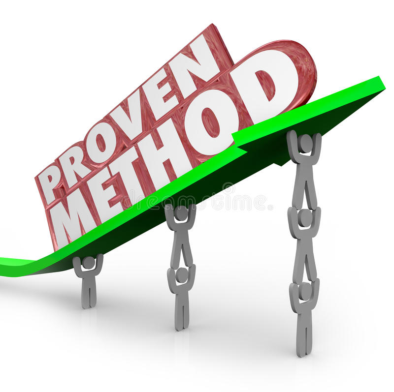 Procédure prouvée Team Lifting Arrow de processus de méthode illustration stock