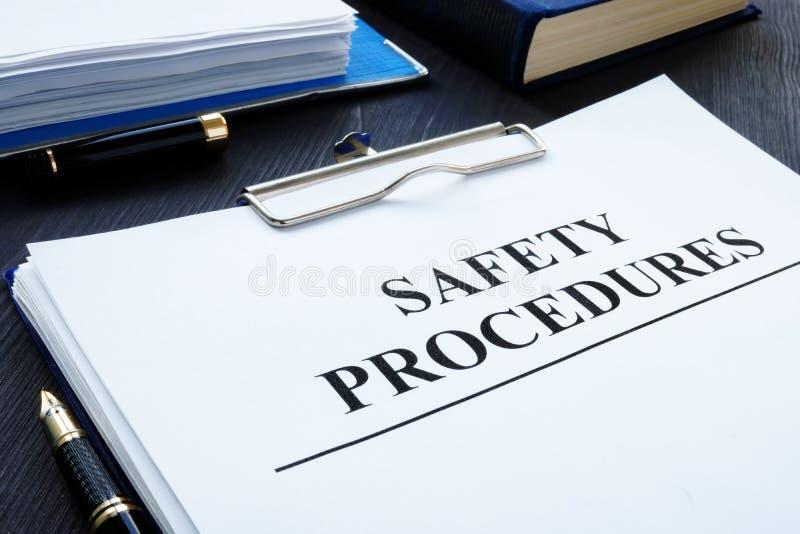 Procédures de santé et sécurité de lieu de travail photo libre de droits