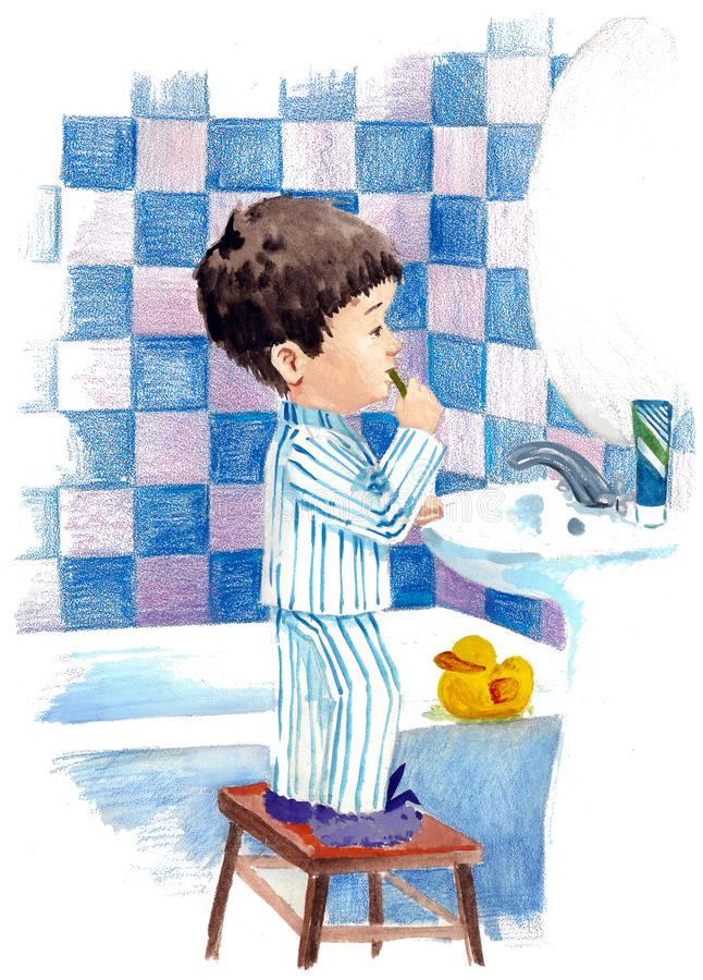 Procedimento da manhã ilustração stock