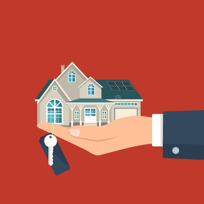 Procedimento do aluguel de casa ilustração do vetor