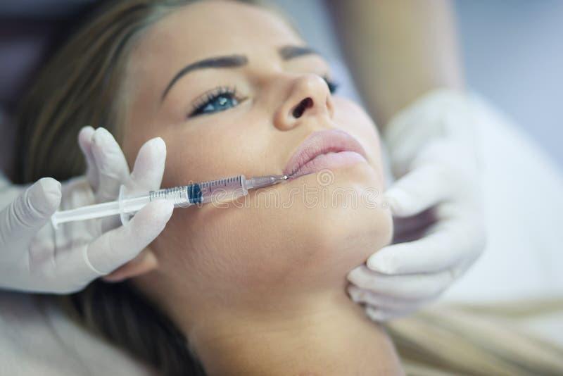 Procedimento dos cosméticos imagem de stock