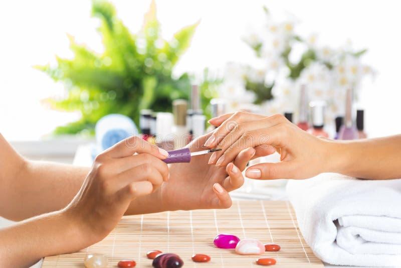 Procedura del manicure fotografia stock libera da diritti