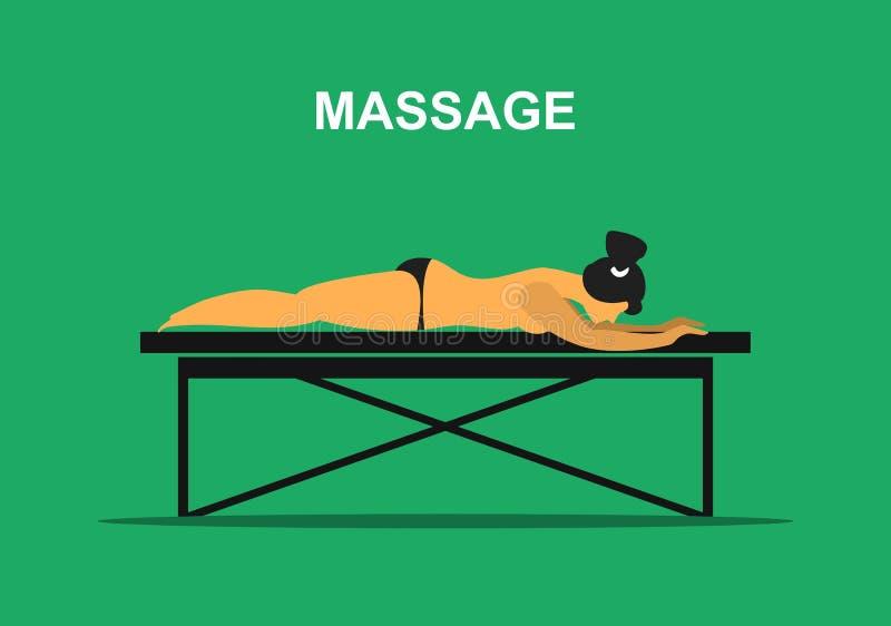 Procedura di massaggio terapeutico illustrazione vettoriale
