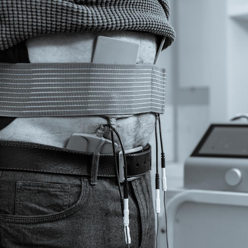 Procedura spinale della trazione fotografie stock libere da diritti