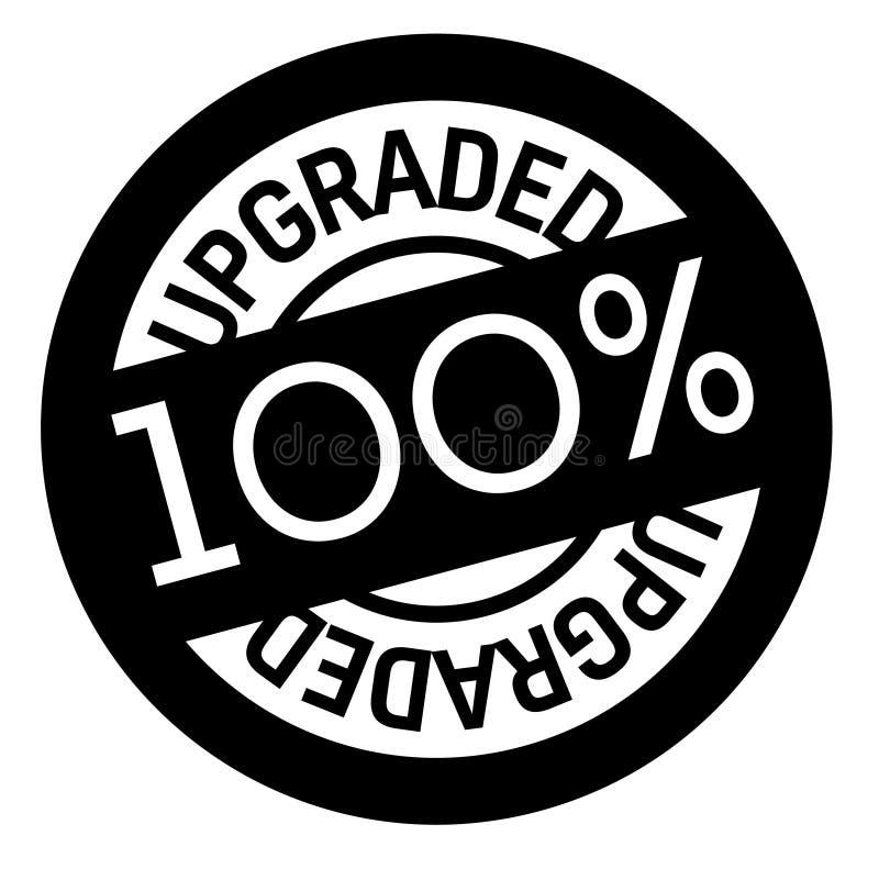 100 procentów ulepszający znaczek na bielu ilustracji