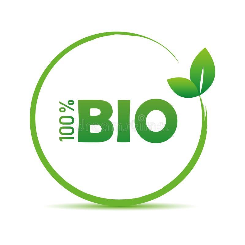 100 procentów ilości życiorys zielony symbol z liściem ilustracji