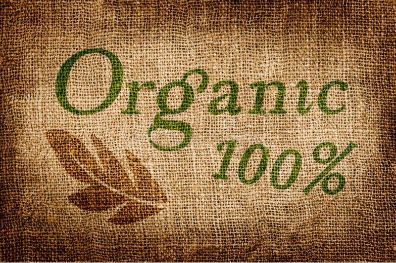 100 procentów Naturalnych na Grunge kanwie obraz stock