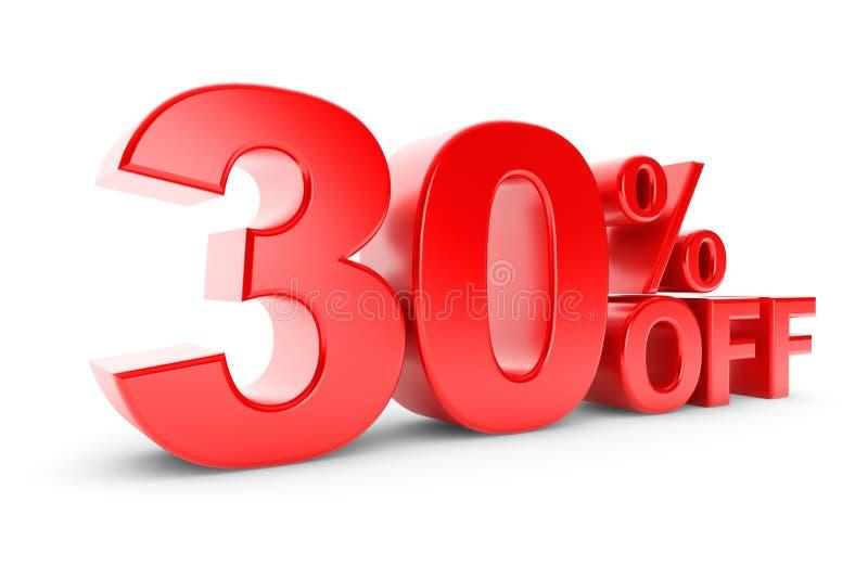 30 procentów rabat royalty ilustracja