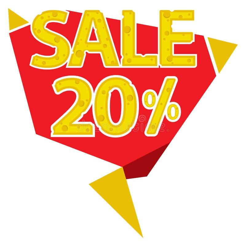20 procentów sprzedaży etykietka royalty ilustracja