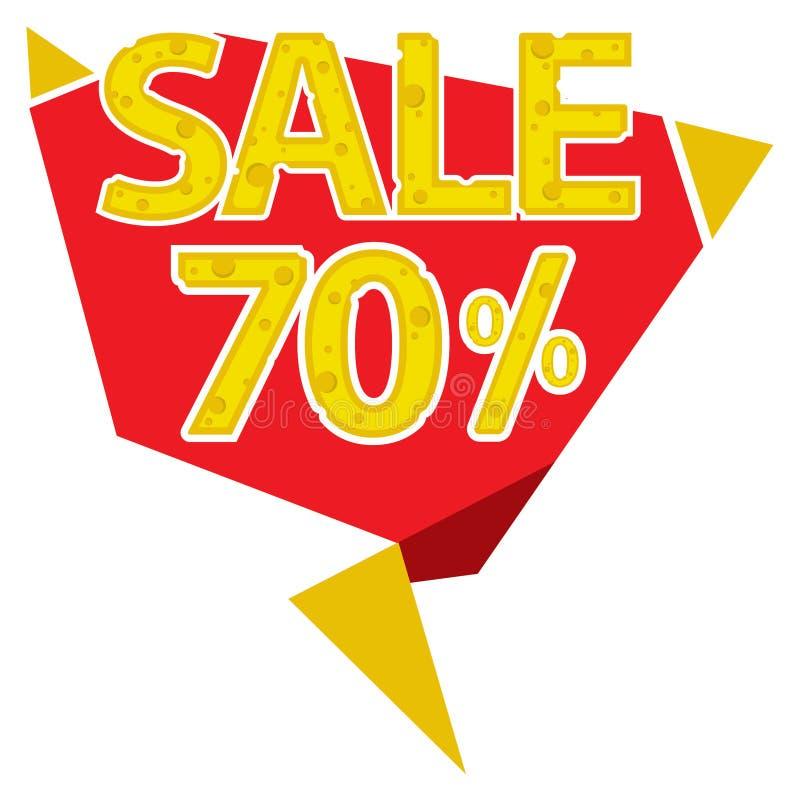 70 procentów sprzedaży etykietka ilustracji