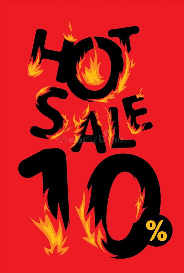 10 procentów sprzedaży gorący sztandar ilustracji