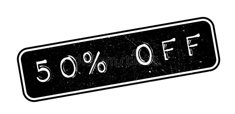 50 procentów z pieczątki royalty ilustracja