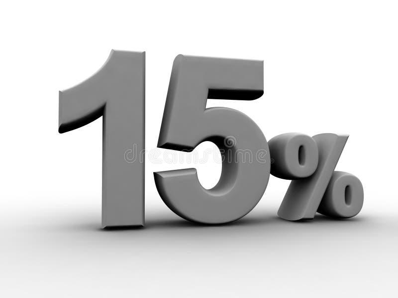 procent 15 royalty ilustracja