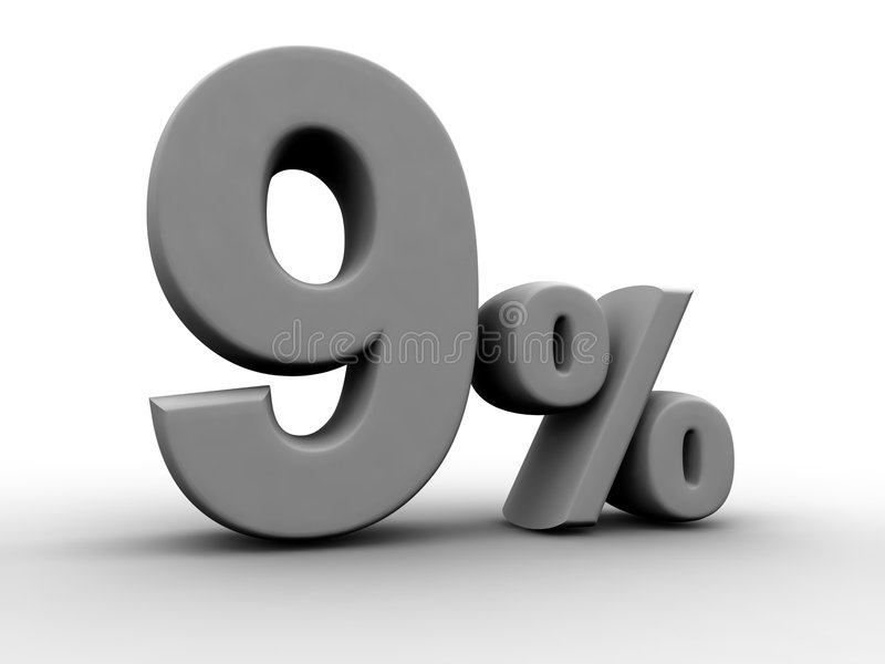 procent 9 royalty ilustracja