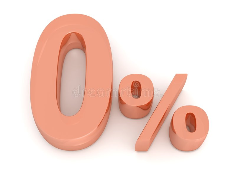 procent nolla royaltyfri illustrationer