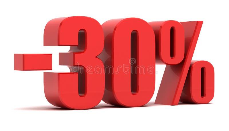 30 procent rabatt vektor illustrationer