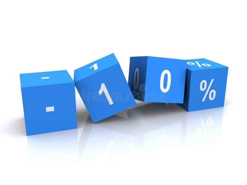 procent redukcja dziesięć ilustracji