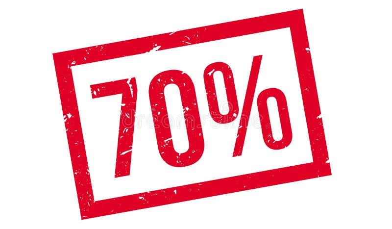 70 procent rubber stämpel vektor illustrationer