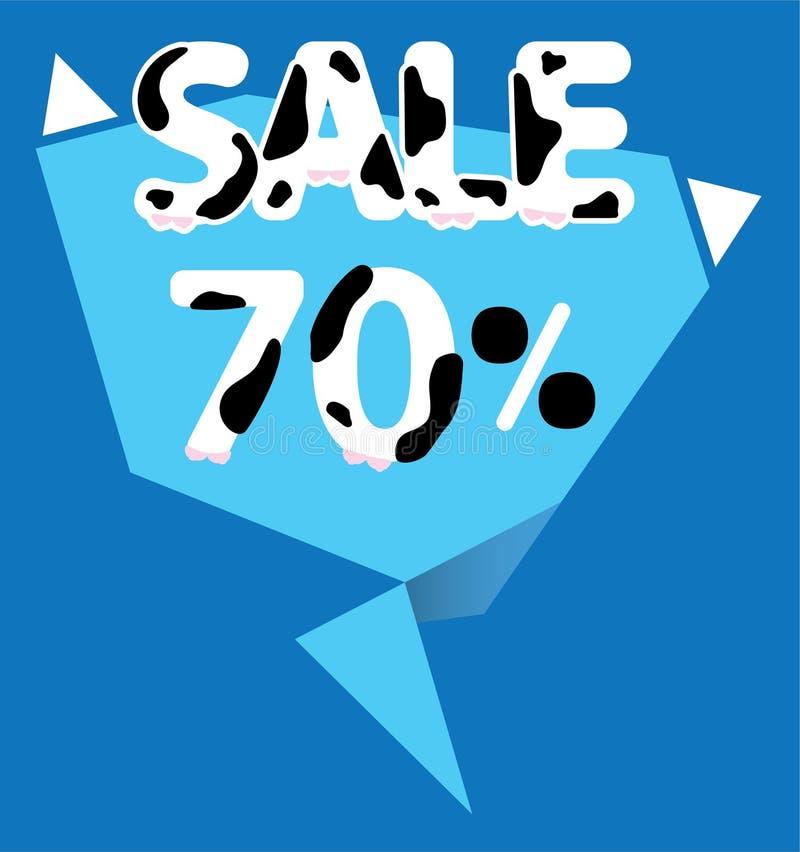 70 procent Sale etikett royaltyfri illustrationer
