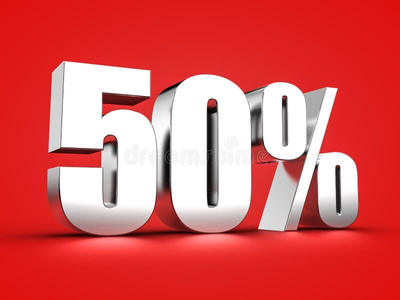 50 procent tecken royaltyfri illustrationer