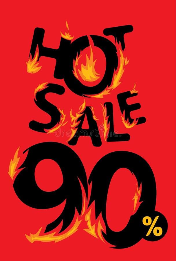 90 procent varmt försäljningsbaner vektor illustrationer