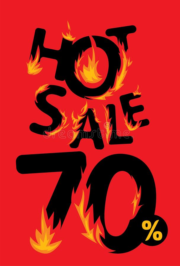 70 procent varmt försäljningsbaner stock illustrationer